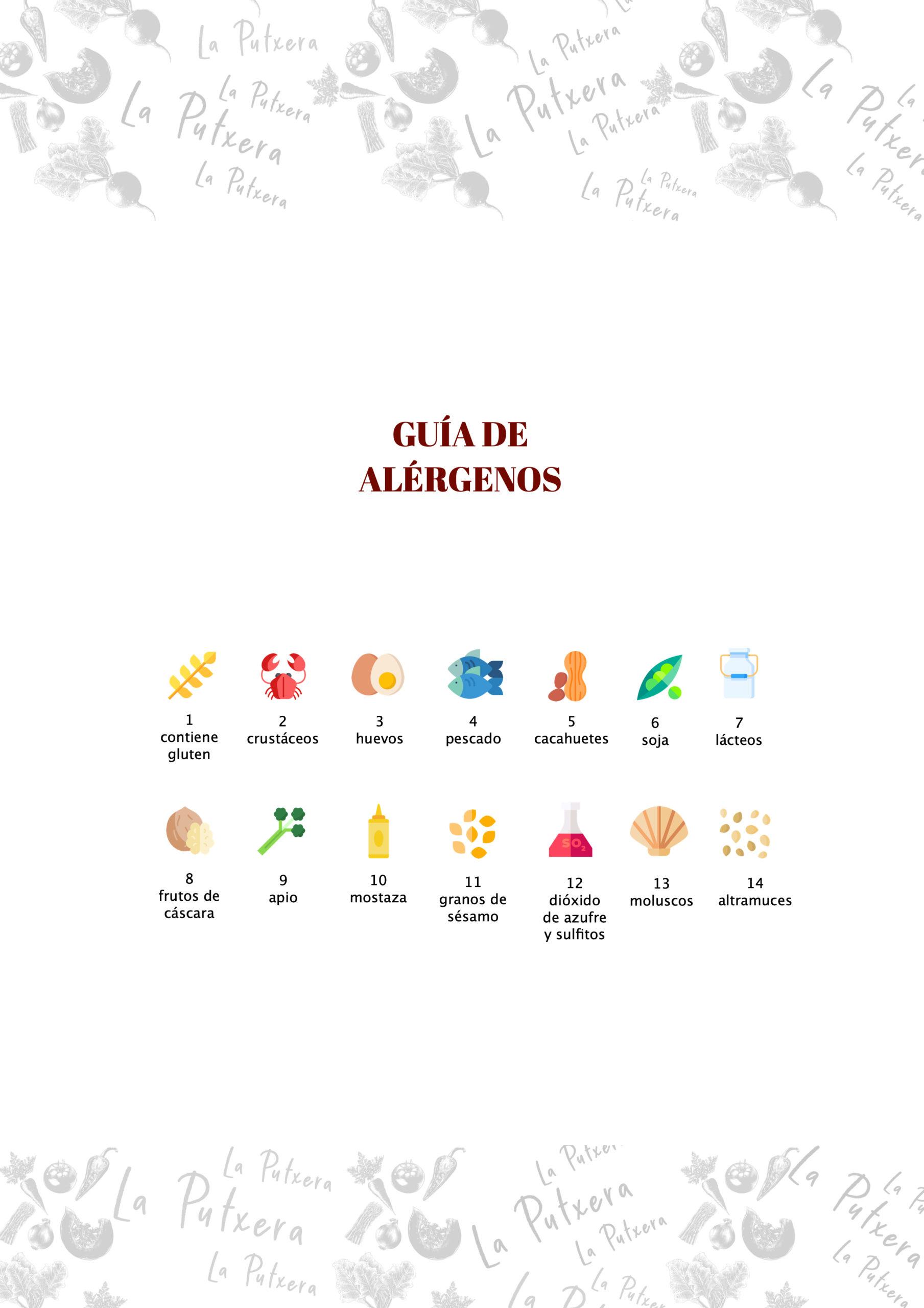 guia de alergenos