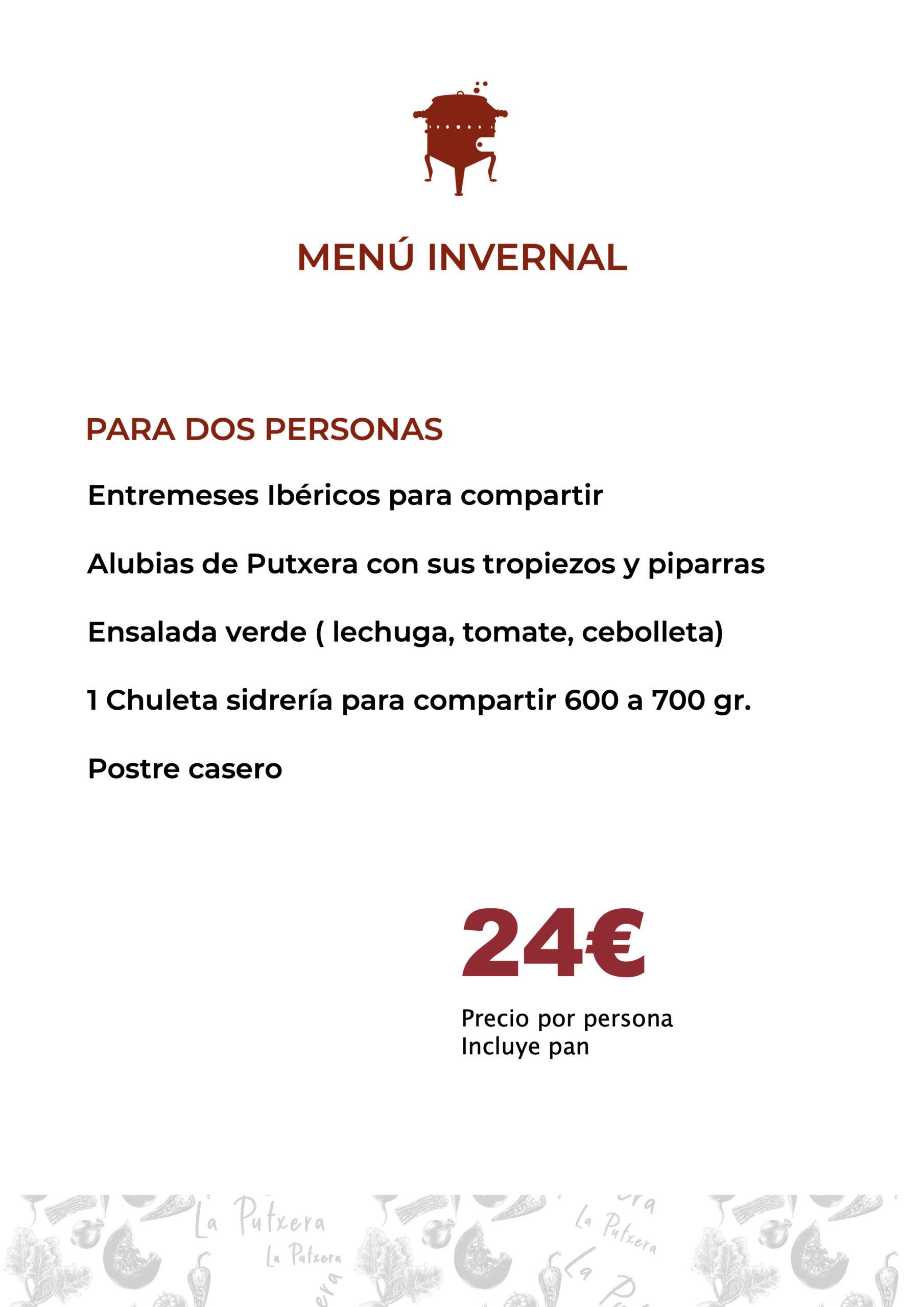 menu invernal